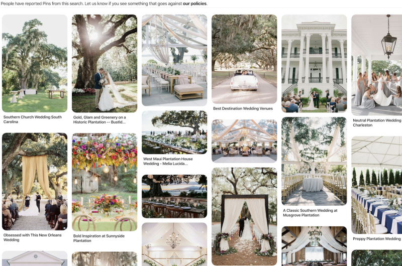 Image for Breaking News on Plantation Weddings and What That Means for Venue Owners