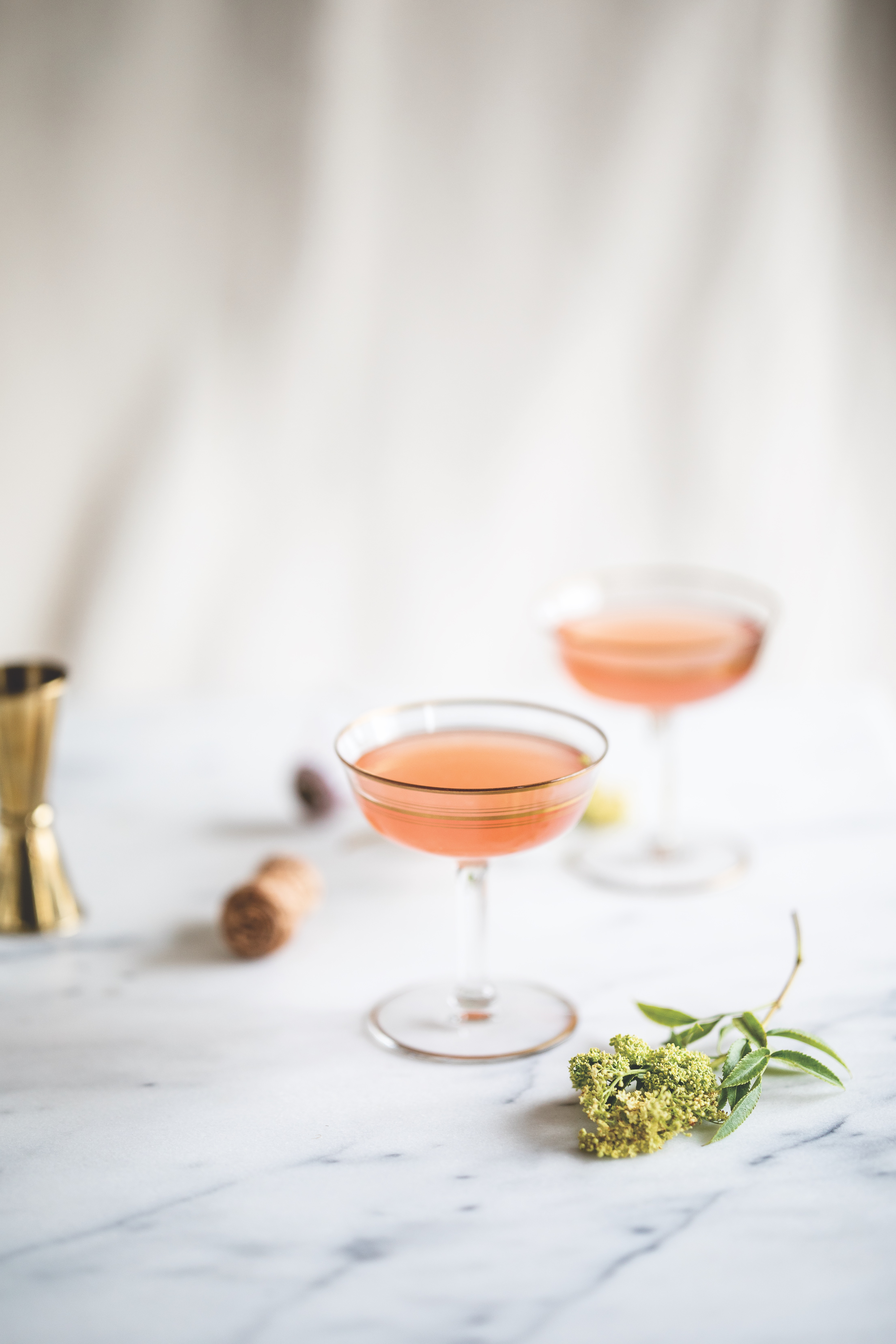 Elderflower Grapefruit Mimosa