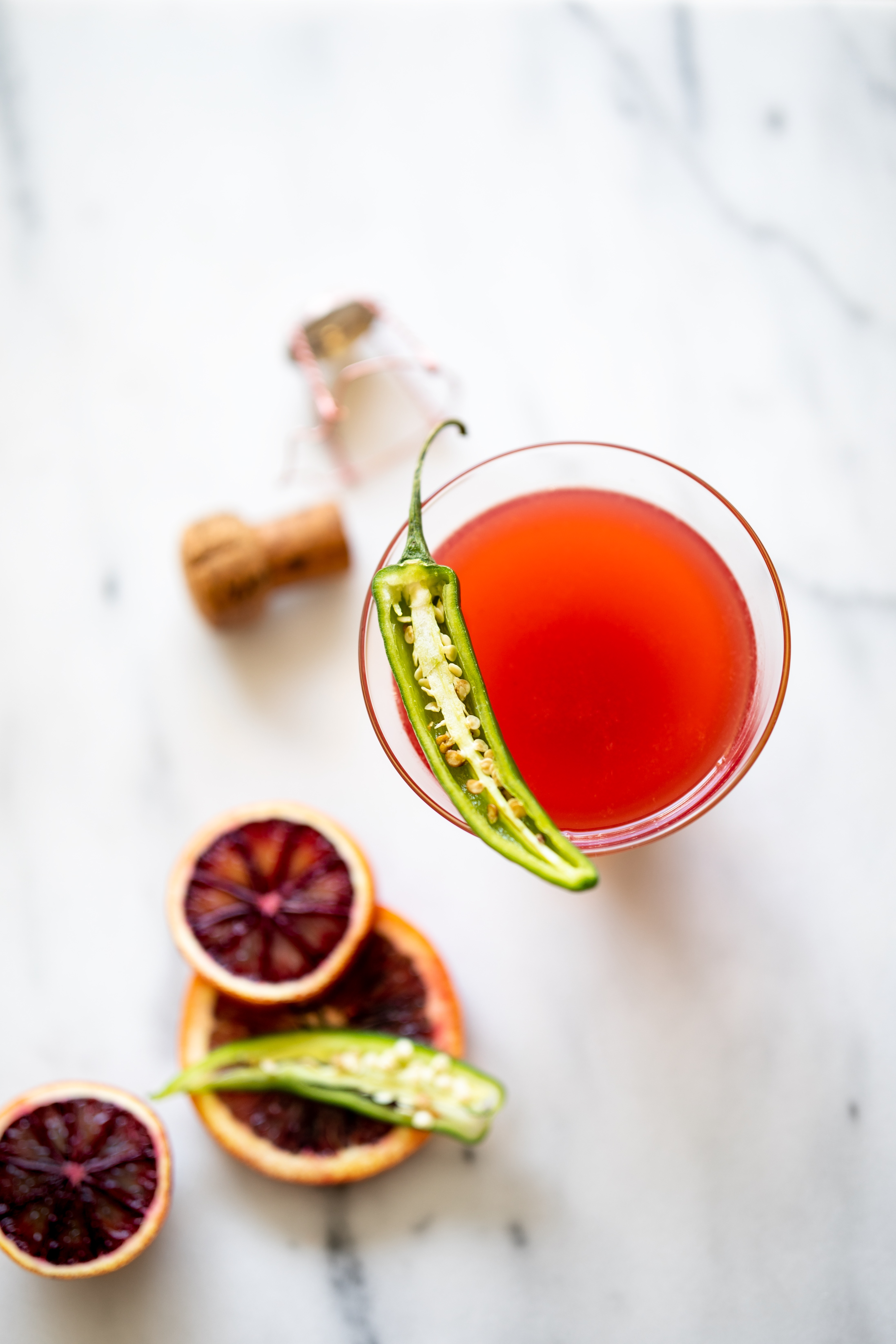 Spicy Blood Orange Serrano Mimosa