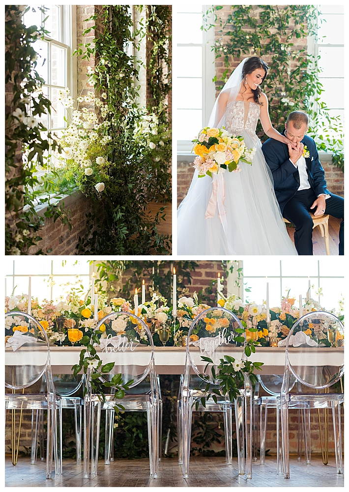 greenery-and-yellow-wedding-reception