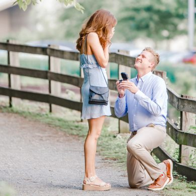 Proposal with Surprise Engagement Party