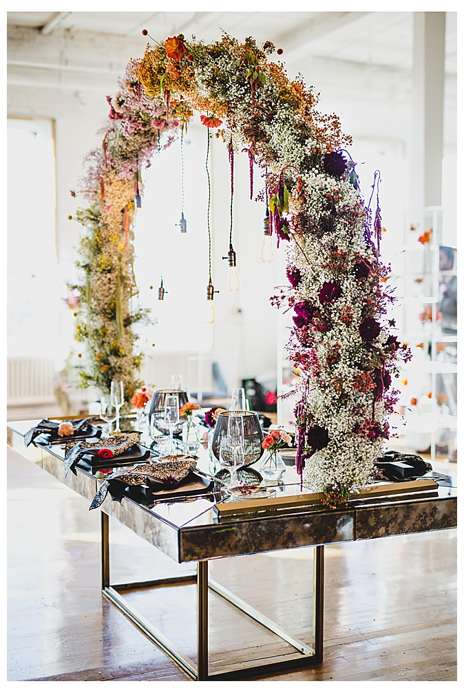 rainbow-floral-arch-wedding-reception-decor