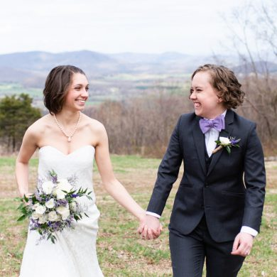 Lavender and Gray Mountain Wedding