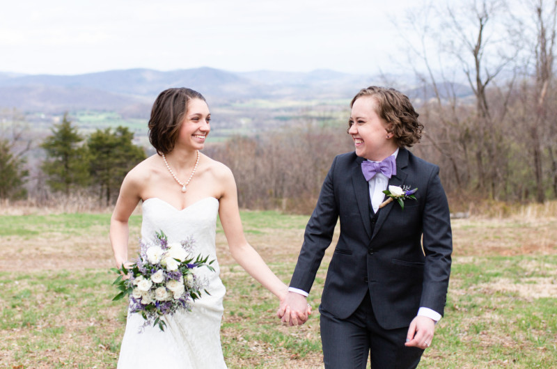 Image for Lavender and Gray Mountain Lodge Weekend Wedding