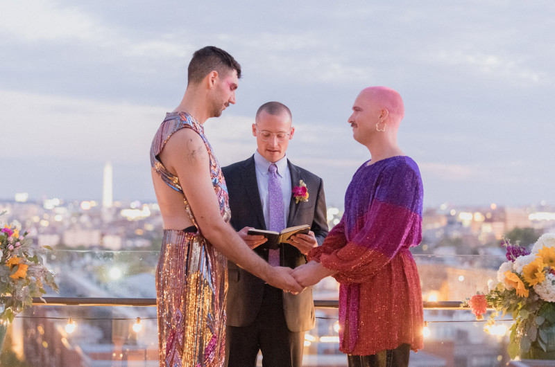 Image for A Sparkly Washington D.C. Rooftop Wedding