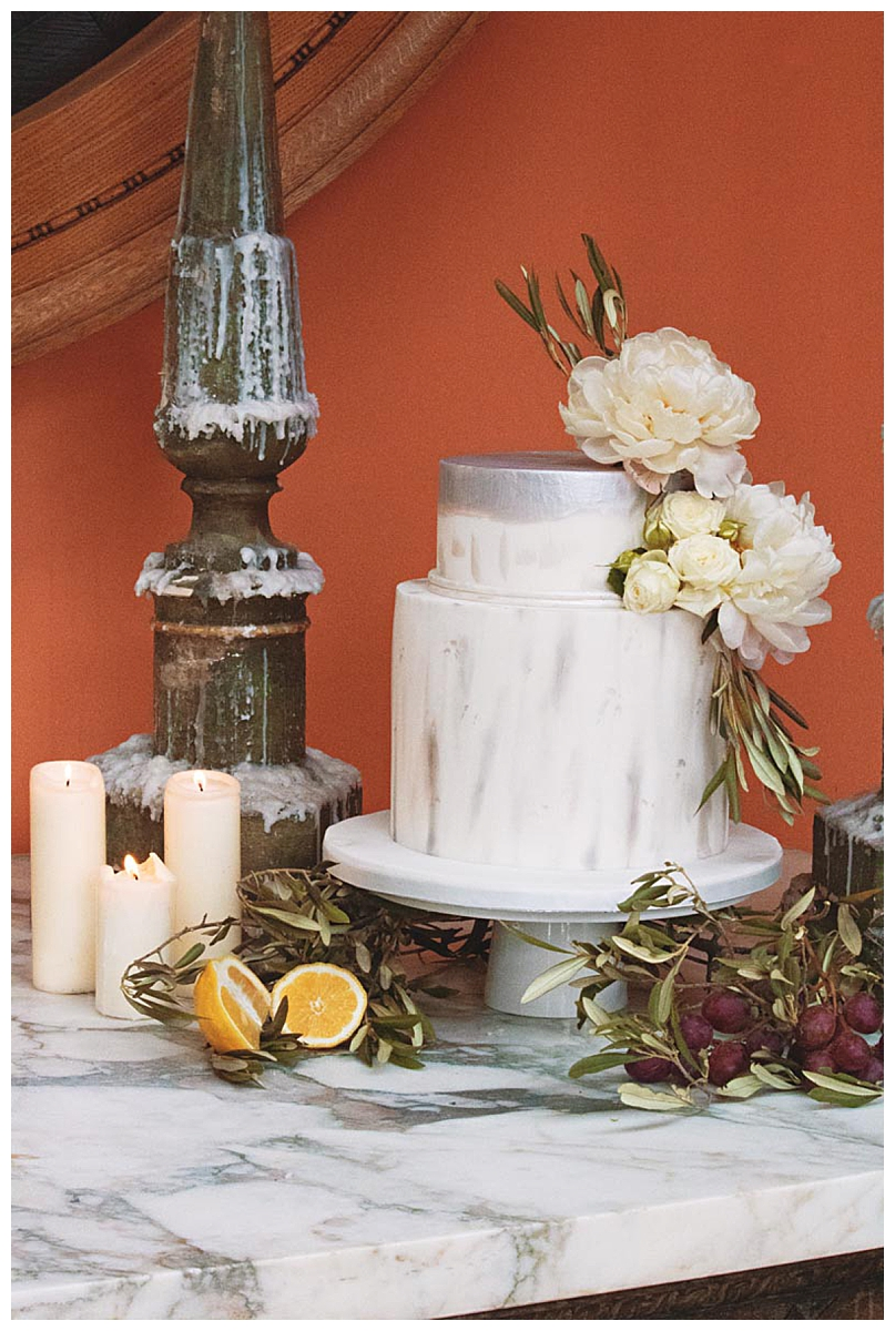 silver-and-white-wedding-cake