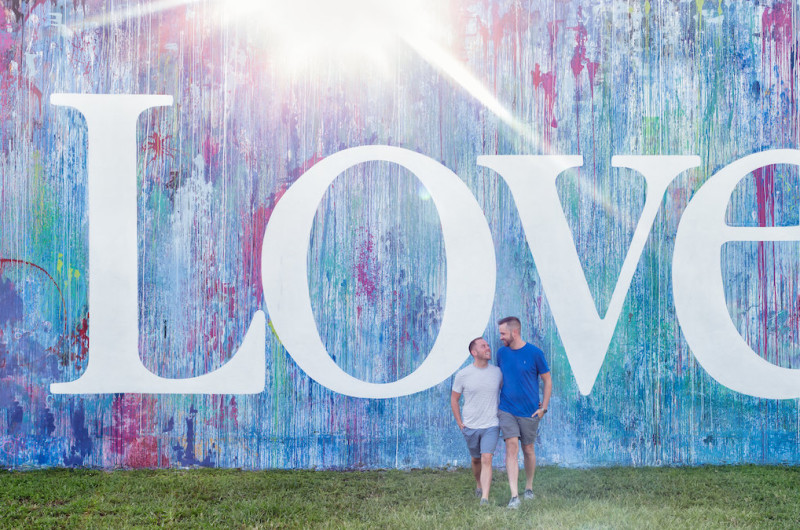 Image for 10 Instagram Walls Around the Country That Set the Scene for Engagement Photos