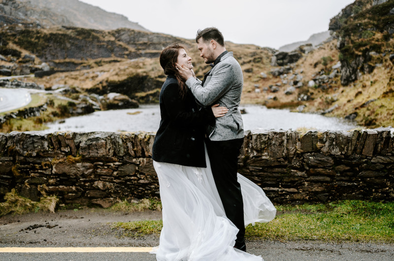 Image for This Rainy Ireland Adventure Elopement is Pure Romance