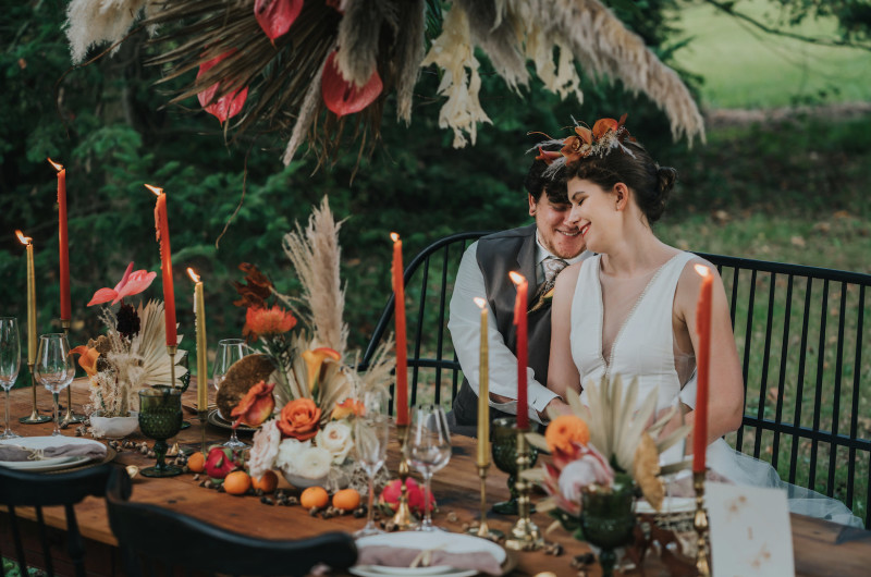 Image for Boho Wedding Inspiration with Dreamy Over-the-Top Florals