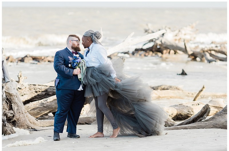 Image for Victorian Meets Modern Style in This Beach Elopement