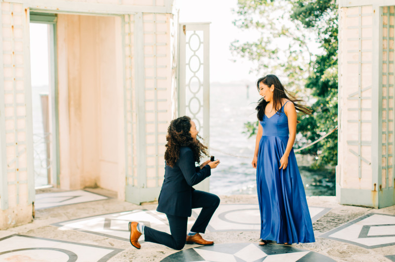 Image for Nurse and Vet Get Engaged at Miami's Vizcaya Museum & Gardens