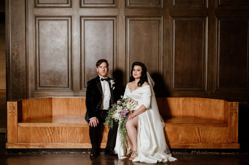 Image for A Wedding Full of Moody Enchantment at the Los Angeles Natural History Museum