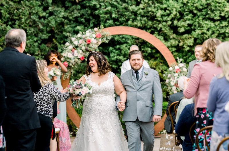 Image for Oh-So-Pretty Pink Wedding That Took Place on Leap Year Day