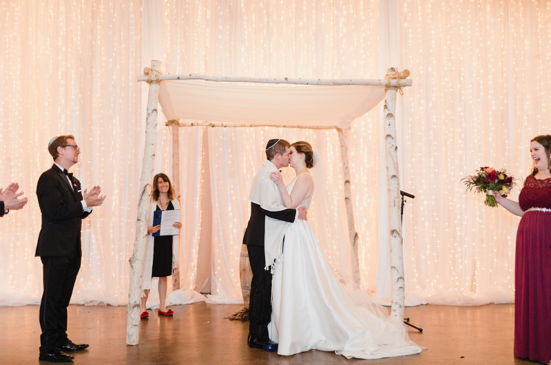 Image for Festive Fall Jewish Wedding at Seattle's The Foundry