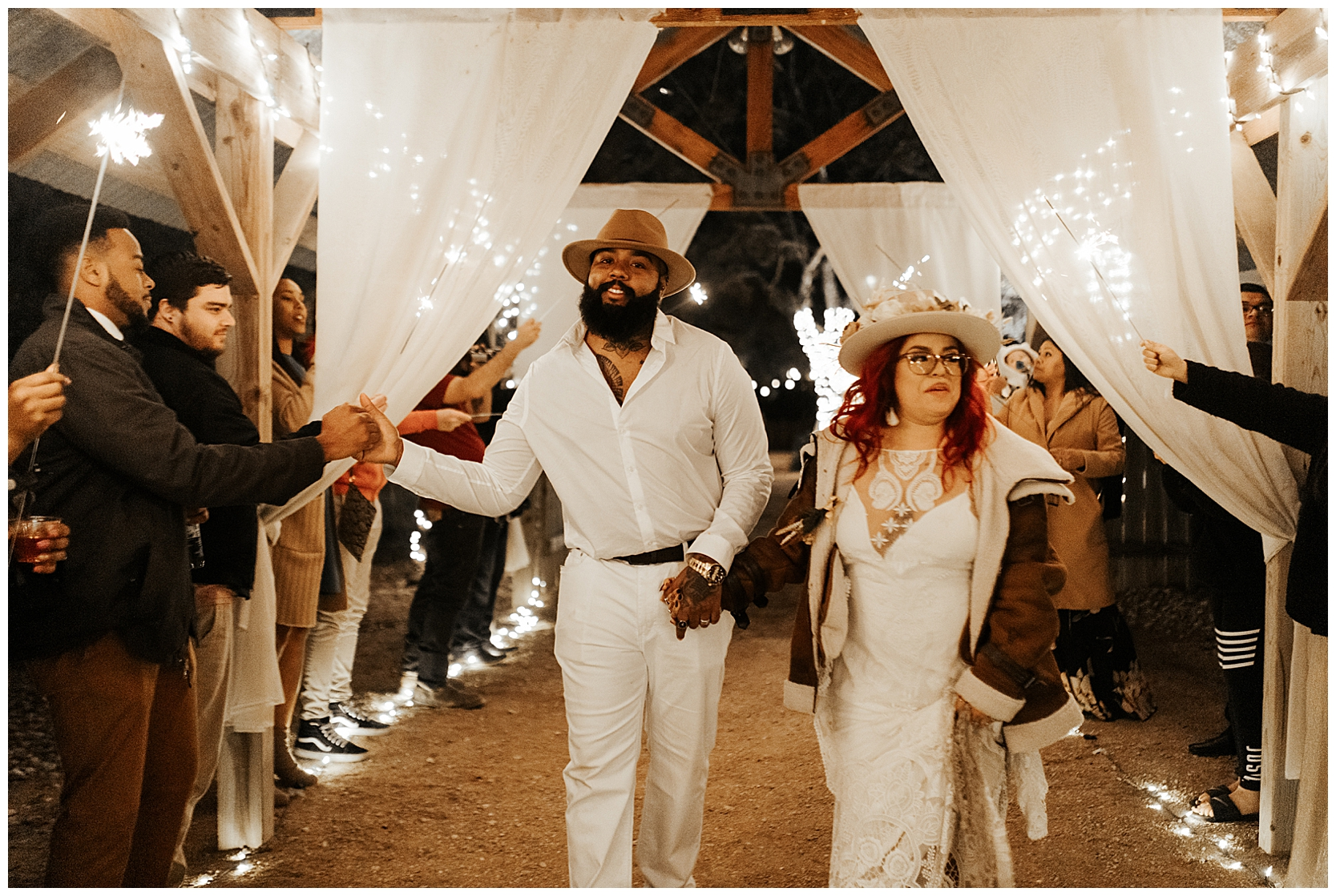 sparkler-exit-boho-wedding