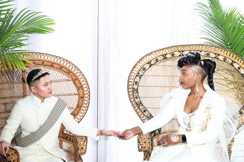 Image for Brooklyn Wedding With Style and Multicultural Traditions