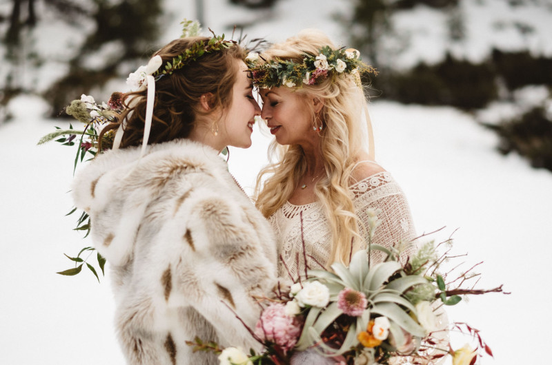Image for 11 Bridal Coats for Outdoor Winter Weddings