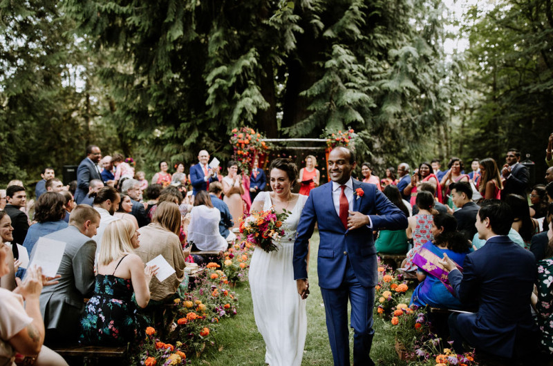 Image for A Hindu-Jewish Wedding with Summer Camp Vibes