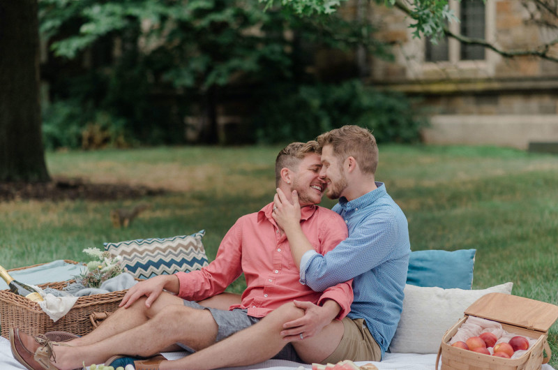 Image for A Charming Outdoor Picnic Engagement Session
