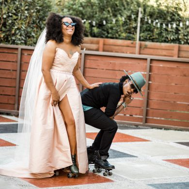 Autumnal Equinox Elopement with Roller Skating