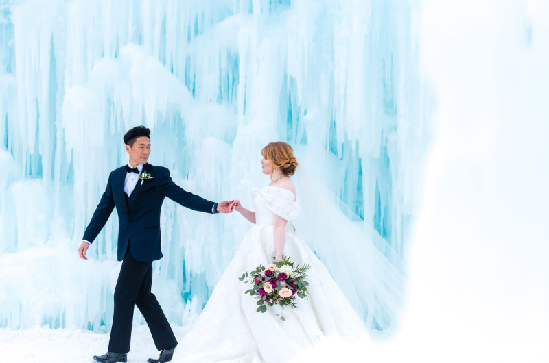 Image for Magical Winter Wedding Inspiration in an Ice Castle