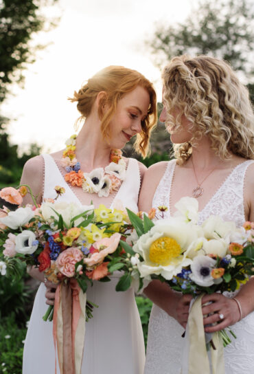 Oversized Wedding Bouquet and Floral Necklace
