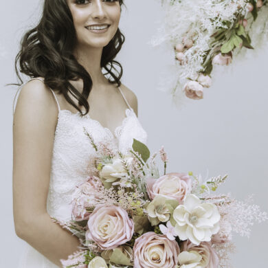 Pale Pink and White Floral Wedding Bouquet
