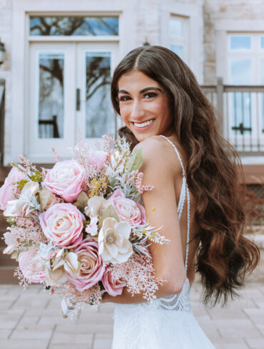 Pale Pink Roses Wedding Bouquet