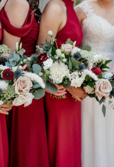 Red White and Blue Wedding Bouquet